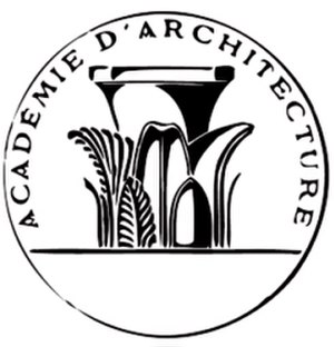 Académie d'architecture - Organization medallion