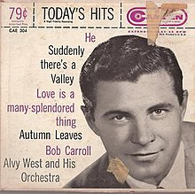 "Album cover of Bob Carroll's ""Today's Hits"" with Alvy West and His Orchestra.jpeg"