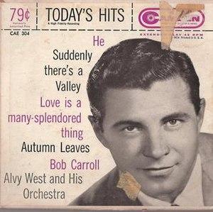Bob Carroll (singer/actor) - Today's Hits with Bob Carroll