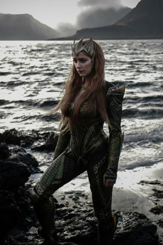 Mera (comics) - Amber Heard as Mera in the 2017 film, Justice League.