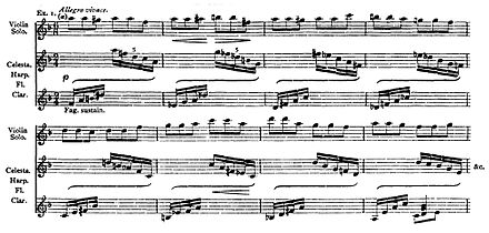 bars of a printed orchestral score