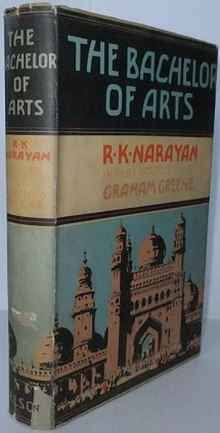Book cover of The Bachelor of Arts by R.K.Narayan.jpg
