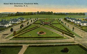 Mill town - Model Mill Settlement, Chadwick Mills, Charlotte, N.C. Published circa 1905-1915