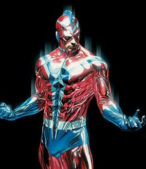 Commander Steel - Nathan Heywood as Citizen Steel. Art by Alex Ross.