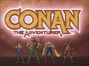Conan the Adventurer (animated series) - Conan the Adventurer logo, featuring Jezmine, Snagg, Needle, Greywolf and Zula