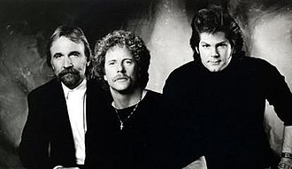 The Desert Rose Band - Pictured from left to right Herb Pedersen, Chris Hillman and John Jorgenson