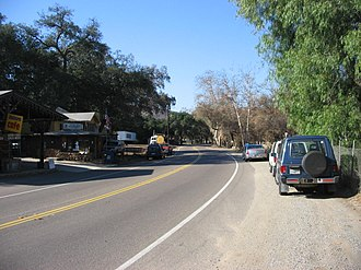 Dulzura, California - Cafe and post office on Highway 94 in Dulzura