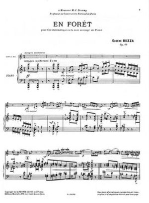 Eugène Bozza - En Forêt for solo horn and piano