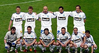FC Slovan Liberec - Slovan Liberec starting eleven before the Czech Cup final match against Sparta Prague, May 2008