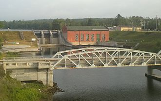 Au Sable River (Michigan) - The Five Channels Dam viewed from M-65