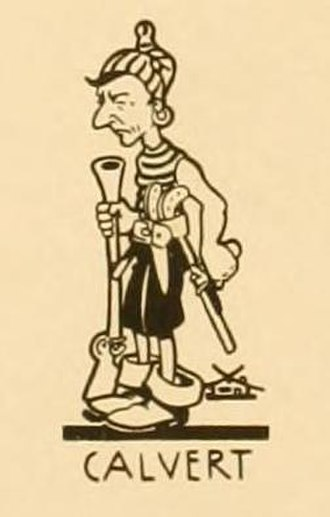 Frank Calvert (cartoonist) - Caricature of Frank Calvert as a pirate. Members of the Seattle Artists club drew themselves in this manner, alongside the serious and famous men they were portraying.