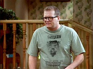 Ghoulardi - Drew Carey wearing a Ghoulardi T-shirt on The Drew Carey Show