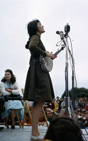 Hedy West - West performing at Newport Folk Festival, 1964