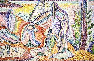 Luxe, Calme et Volupté - Image: Henri Matisse, 1904, Luxe, Calme et Volupté, oil on canvas, 98.5 × 118.5 cm, Musée National d'Art Moderne, Centre Pompidou (detail lower center)
