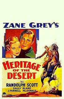 <i>Heritage of the Desert</i> (1932 film) 1932 film