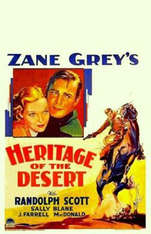 Heritage of the Desert (1932 film) - Image: Heritage of the Desert Poster