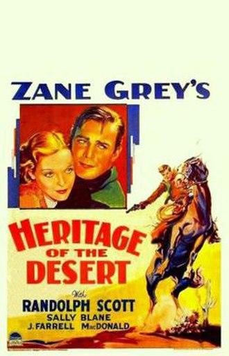 Heritage of the Desert (1932 film) - Image: Heritage of the Desert Poster