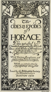 <i>Epodes</i> (Horace) Collection of poems by Horace