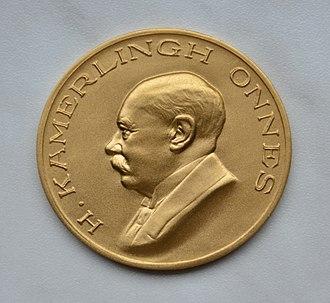 Kamerlingh Onnes Award - Picture of the golden Kamerlingh Onnes medal.