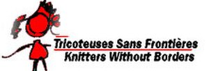 Stephanie Pearl-McPhee - Tricoteuses sans Frontières (Knitters without Borders) logo.