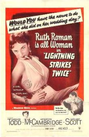 Lightning Strikes Twice (1951 film) - Theatrical release poster