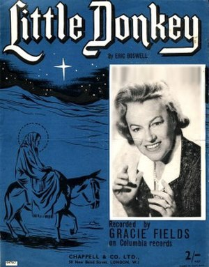 Little Donkey - Cover of original 1959 edition of sheet music of Little Donkey