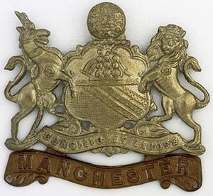 Manchester Regiment - Image: Manchesters Cap Badge WWI