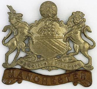 Manchester Regiment - Cap badge of the Manchester Regiment during the First World War