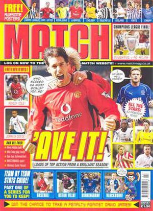 Match (magazine) - Front cover on 31 May 2003, featuring Ruud van Nistelrooy
