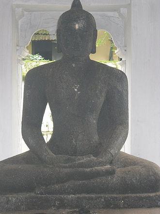 Mavelikkara - Seated Buddha statue near Buddha Junction, that was found from near Kandiyoor temple