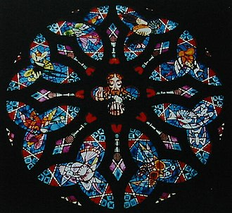 Michaelhouse - The chapel rose window depicts the head of Christ surrounded by the birds of Natal Province