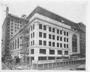 Midland Theatre - Construction of the Midland Theatre in May, 1927
