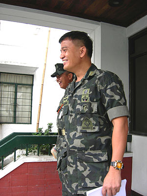 Nicanor Faeldon - Cpt. Faeldon leaving a hearing at the Judge Advocate General's Office in Camp Aguinaldo, Quezon City.