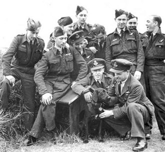 Nigger - Portrait of the RAF officers and dog upon whom The Dambusters was based