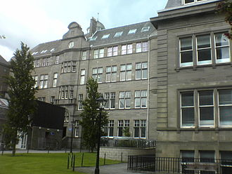 University of Dundee - The Old Medical School, an example of expansion into the professions and purpose-built university structures from the turn of the century