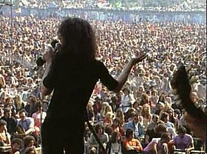 """Message to Love - Paul Rodgers of the band Free singing """"All Right Now"""" in front of the crowd"""