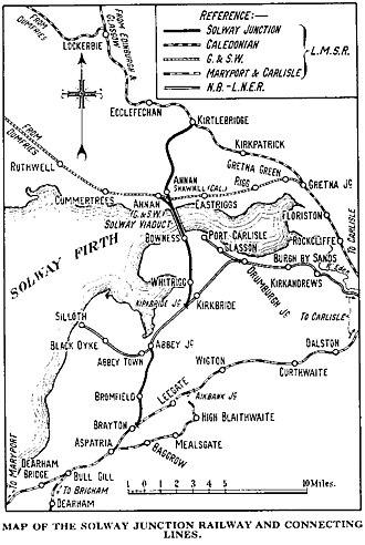 Solway Junction Railway - Image: SJR Map