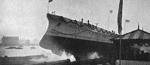SMS Braunschweig - Braunschweig at her launching