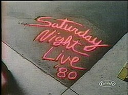 The title card for the sixth season of Saturday Night Live.
