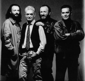 S Vremena Na Vreme - S Vremena Na Vreme in the 1990s, from left to right: Asim Sarvan, Vojislav Đukić, Ljubomir Ninković, Miomir Đukić