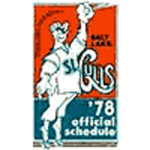 Salt Lake City Bees - A program for the Gulls' 1978 season