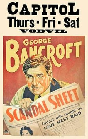 Scandal Sheet (1931 film) - Theatrical release poster