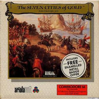 The Seven Cities of Gold (video game) - Image: Seven Cities of Gold game cover