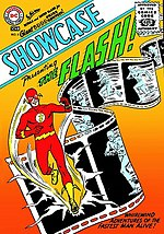 "Showcase #4 (October 1956)The first ""Silver Age"" comic, debut of the SA Flash.Cover art by Carmine Infantino & Joe Kubert."