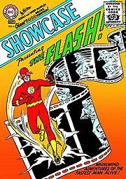 Showcase #4 (Oct. 1956). Cover art by Carmine Infantino & Joe Kubert.