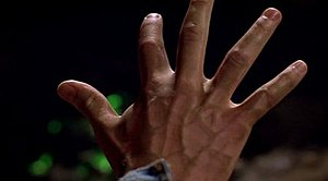 Smallville (season 1) - A green hue and raised veins in Clark's hand, created digitally, were used to help illustrate the effects of kryptonite poisoning