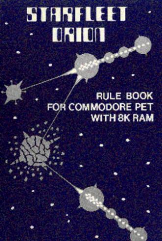 Starfleet Orion - Rule book cover art
