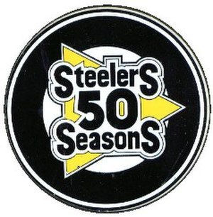1982 Pittsburgh Steelers season - Steelers 50th Anniversary Logo