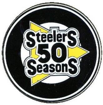 1982 Pittsburgh Steelers season - Steelers 50th Anniversary Logo