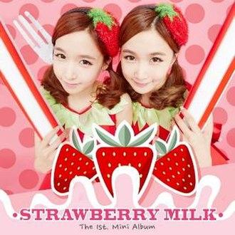 The 1st Mini Album (Strawberry Milk EP) - Image: Strawberry Milk mini album cover